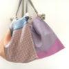 【nagamori chika】 手織り布の鞄とストール